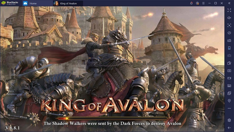 King of Avalon on PC with BlueStacks Macros