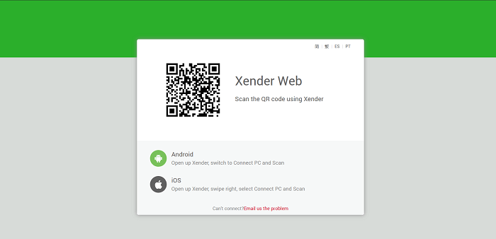 Xender Web Version on PC