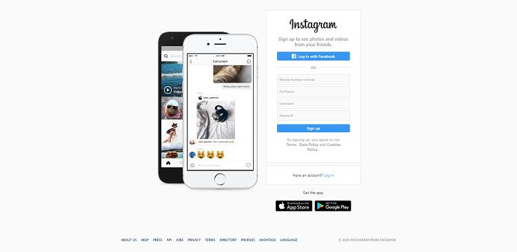 Open Instagram Official website