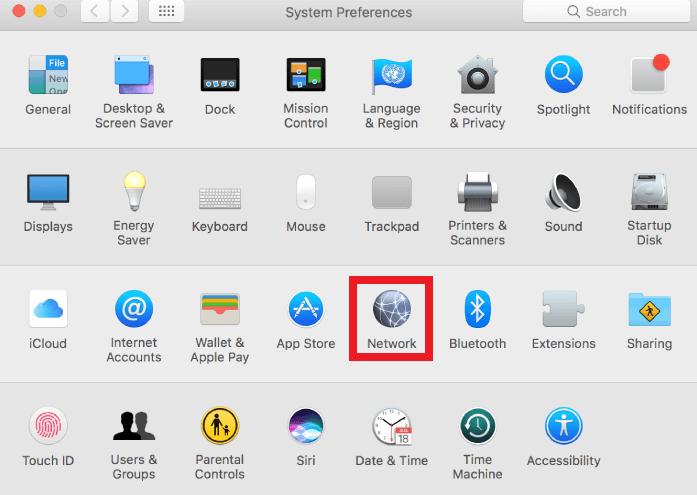 Mac System Preference - Network