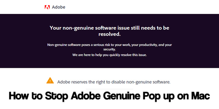 How to Stop Adobe Genuine Pop up on Mac