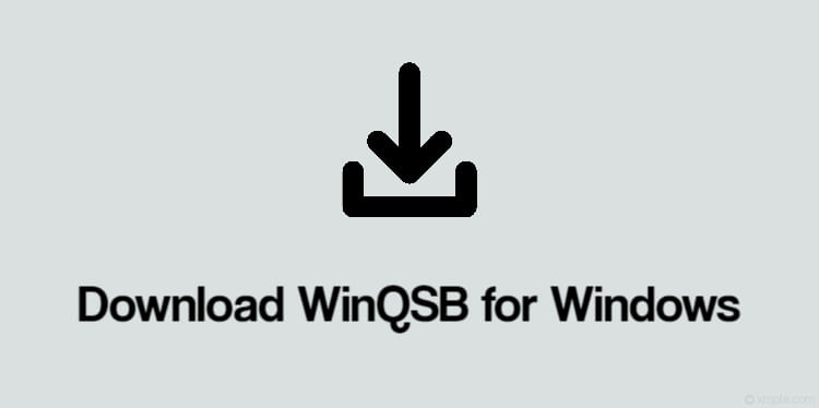 Download WinQSB for Windows