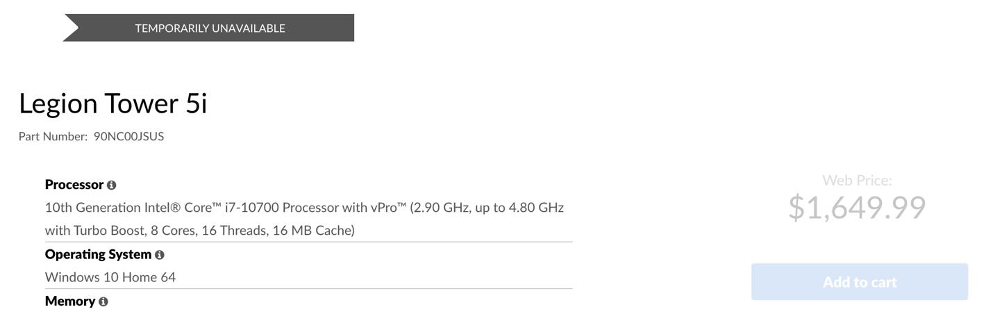 Lenovo Tower 5i PC